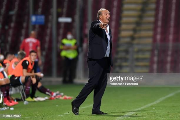Gian Piero Ventura US Salernitana coach during the serie B match between US Salernitana and FC Empoli at Stadio Arechi on July 24, 2020 in Salerno,...