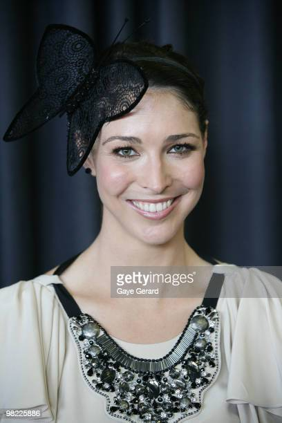 Gian Rooney attends Golden Slipper Day at the Rosehill Gardens on April 3 2010 in Sydney Australia