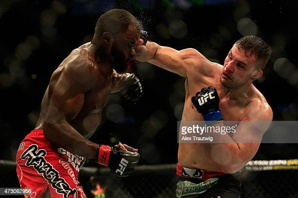 Gian Villante and Corey Anderson fight in their light heavyweight bout during the UFC Fight Night event at Prudential Center on April 18 2015 in...