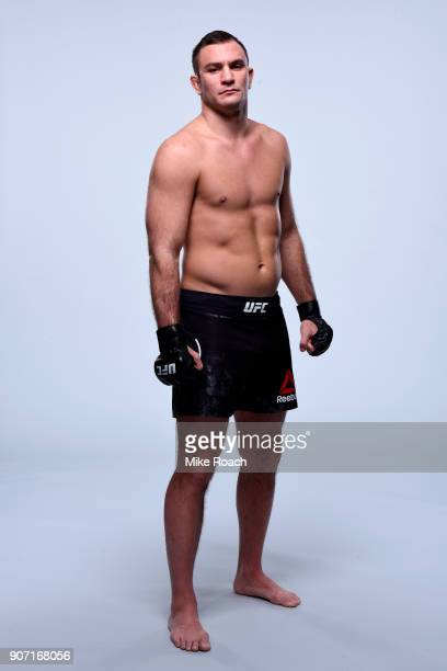 Gian Villante poses for a portrait during a UFC photo session on January 17 2018 in Boston Massachusetts