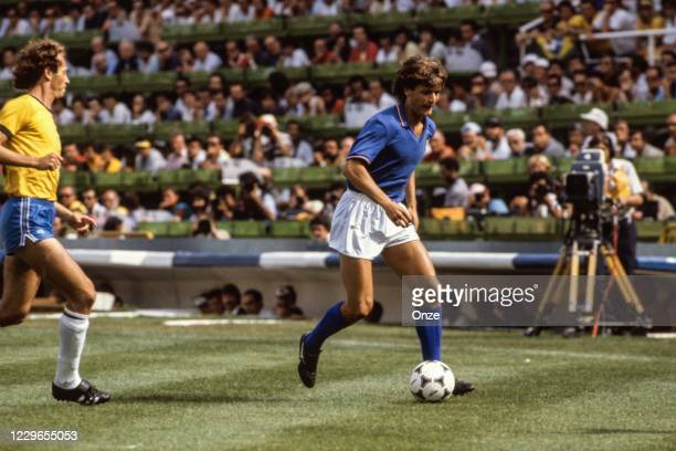 Giancarlo Antognoni of Italy during the second stage of the 1982 FIFA World Cup match between Italy and Brazil, at Sarria Stadium, Barcelona, Spain...