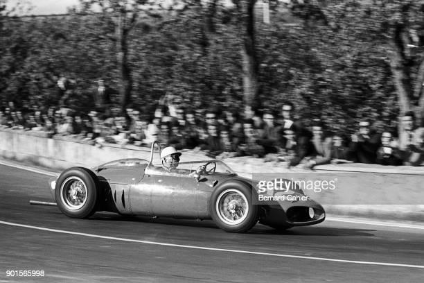 Giancarlo Baghetti Ferrari 156 Grand Prix of Syracuse Syracuse 25 April 1961 Giancarlo Baghetti on his way to victory at the wheel of the Ferrari 156...