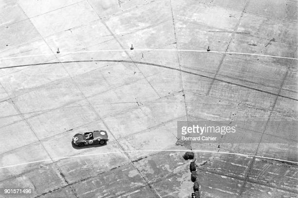 Giancarlo Baghetti Ferrari 275P 12 Hours of Sebring Sebring 27 March 1965 Giancarlo Baghetti's Ferrari 275 photographed from the air in the Goodyear...