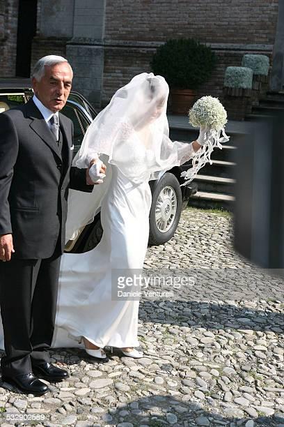 Giancarlo Bigi with Alexia Aquilani during The Wedding of Alexia Aquilani and Andrea Camerana October 9 2005 at Castello di Rivalta in Castello di...