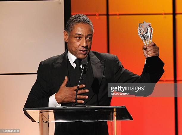 Giancarlo Esposito accepts the award for Best Supporting Actor onstage during The Broadcast Television Journalists Association Second Annual Critics'...