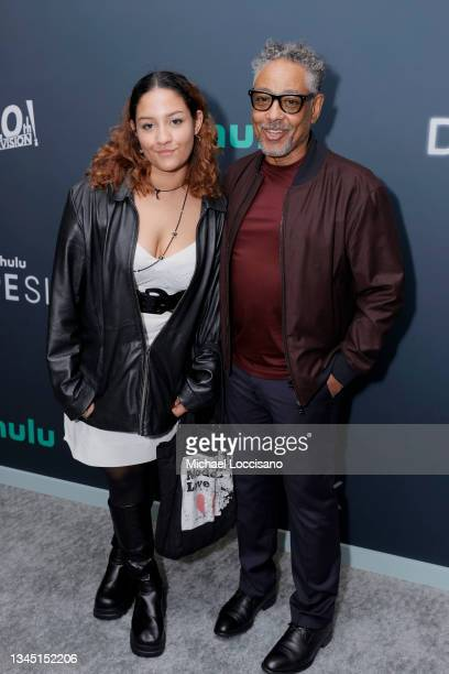 """Giancarlo Esposito and daughter Syrlucia Esposito attend the premiere for Hulu's """"Dopesick"""" at Museum of Modern Art on October 04, 2021 in New York..."""