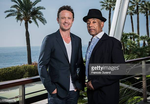 Giancarlo Esposito and David Lyons pose at a portrait session during the 53rd MonteCarlo TV Festival at Grimaldi Forum on June 12 2013 in Monaco...