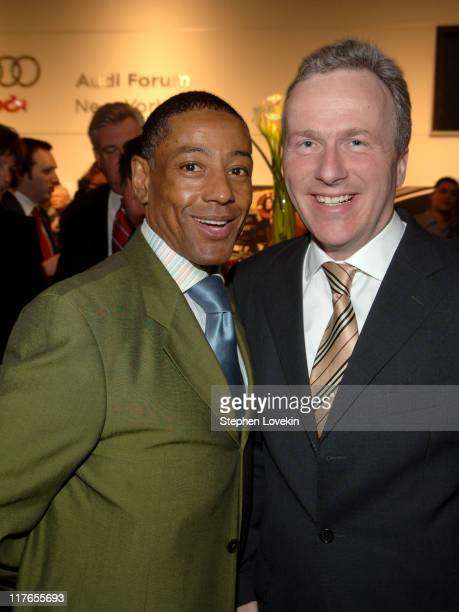 Giancarlo Esposito and Matthias Braun, Audi AG during Audi Kicks off the New York Auto Show with a Party Featuring a Private Performance from Jamie...