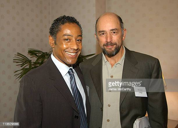 Giancarlo Esposito and Richard Schiff during The Creative Coalition's Private TCC Meeting with House Minority Leader Nancy Pelosi at The Four Seasons...