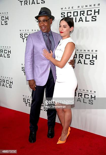 Giancarlo Esposito and Rosa Salazar attend Maze Runner The Scorch Trials New York premiere at Regal EWalk on September 15 2015 in New York City