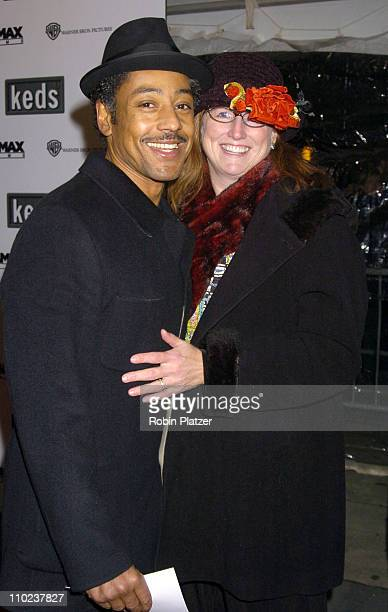 Giancarlo Esposito and wife Joy during The Aviator New York City Premiere Outside Arrivals at Ziegfeld Theatre in New York City New York United States