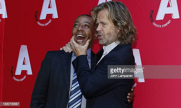 Giancarlo Esposito and William H Macy attend the Atlantic Theater Company's Grand ReOpening of The Linda Gross Theater on October 1 2012 in New York...