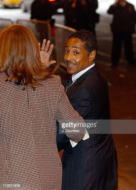 Giancarlo Esposito arrives at the Christopher Reeve Memorial Tribute at The Juilliard School in New York City on October 29 2004