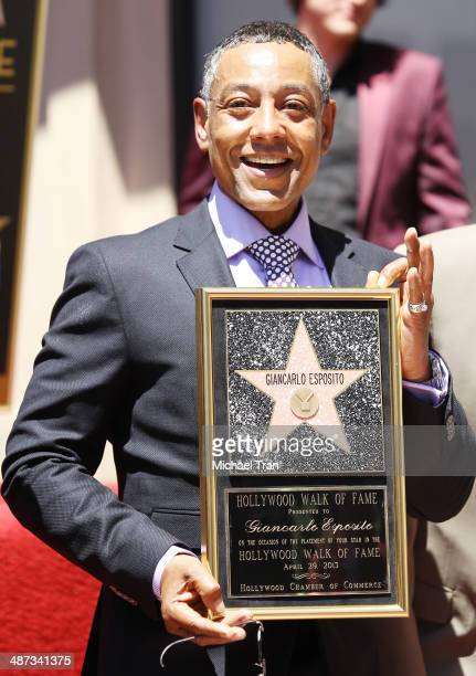 Giancarlo Esposito attends the ceremony honoring him with a Star on The Hollywood Walk of Fame on April 29 2014 in Hollywood California