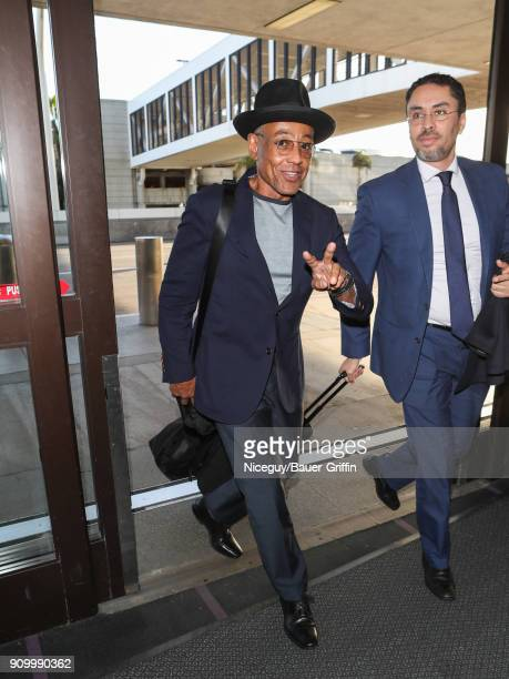 Giancarlo Esposito is seen at Los Angeles International Airport on January 24 2018 in Los Angeles California