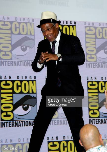 Giancarlo Esposito walks onstage during the 'Breaking Bad' 10th Anniversary Celebration during ComicCon International 2018 at San Diego Convention...