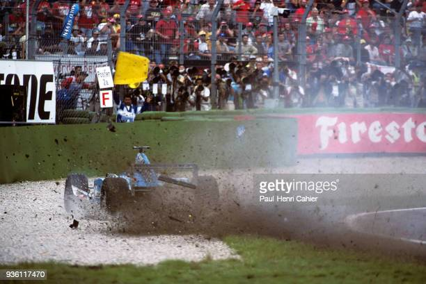 Giancarlo Fisichella BenettonPlaylife B200 Grand Prix of Germany Hockenheimring 30 July 2000 Giancarlo Fisichella leaving the track and about to...