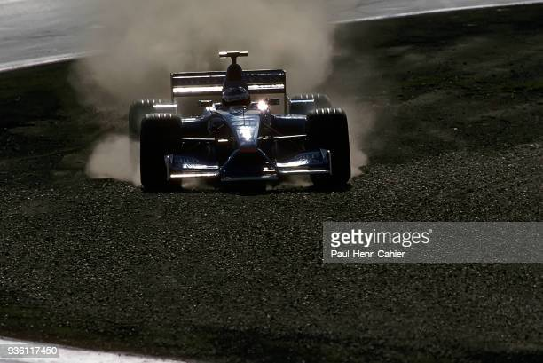 Giancarlo Fisichella, Benetton-Renault B201, Grand Prix of Europe, Nurburgring, 24 June 2001. Giancarlo Fisichella in the gravel after leaving the...