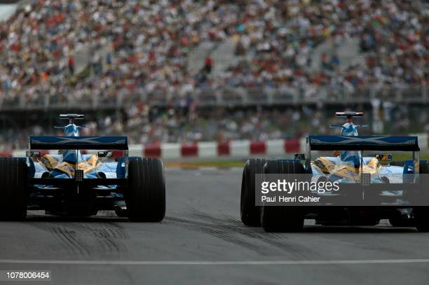 Giancarlo Fisichella, Fernando Alonso, Renault R26, Grand Prix of Canada, Circuit Gilles Villeneuve, 25 June 2006. Fernando Alonso and teammate...