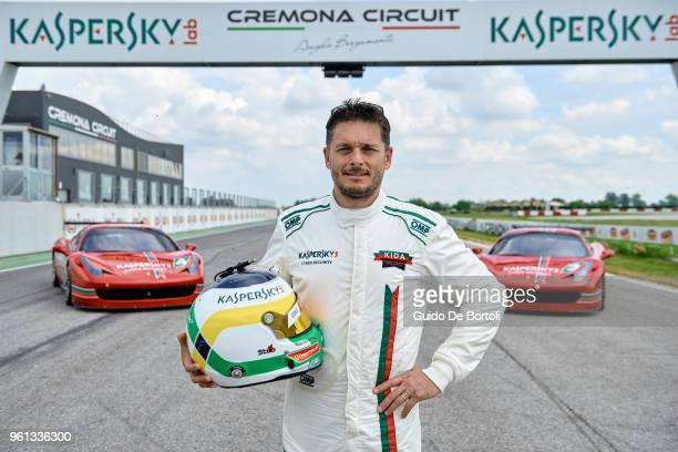 Giancarlo Fisichella is seen at Kaspersky International Driving Academy At Cremona Circuit on May 17, 2018 in Cremona, Italy. Guests invited to the...