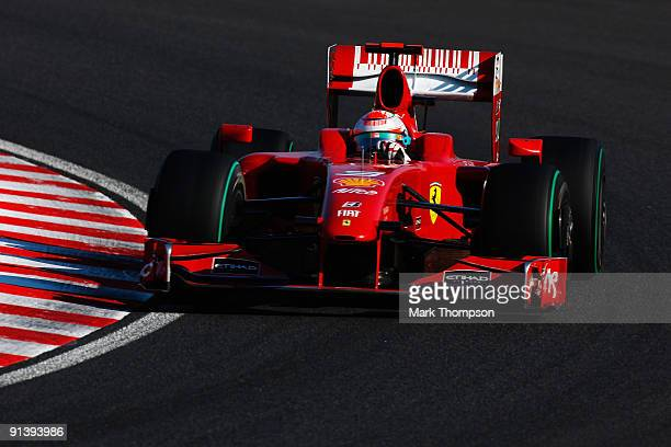 Giancarlo Fisichella of Italy and Ferrari drives during the Japanese Formula One Grand Prix at Suzuka Circuit on October 4, 2009 in Suzuka, Japan.