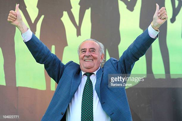Giancarlo Gentilini of the Northern League Party attends the Lega Nord Annual Party Rally on September 12, 2010 in Venice, Italy. The annual event is...