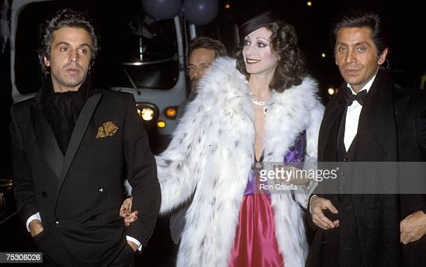 Giancarlo Giametti, Marisa Berenson and Valentino