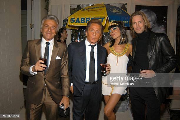 Giancarlo Giametti Valentino Garavani Allison Sarofim and Bruce Hoeksema attend Allison Sarofim's 2005 Halloween Party at West Village on October 29...