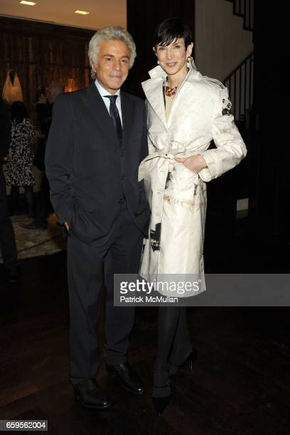 Giancarlo Giammetti and Amy Fine Collins attend Gwyneth Paltrow and VBH's Bruce Hoeksema Host Cocktail Party for Valentino The Last Emperor at VBH on...