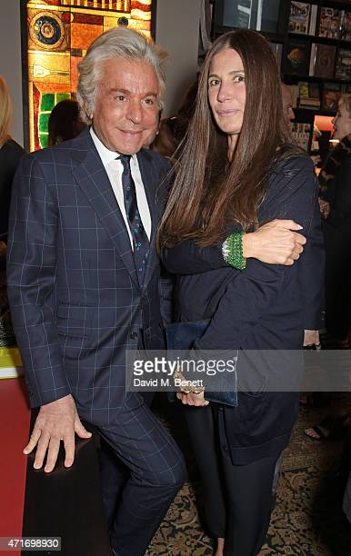 Giancarlo Giammetti and Elizabeth Saltzman attend as Maison Assouline launches independent designer Carlos Mota's new book A Touch of Style on April...