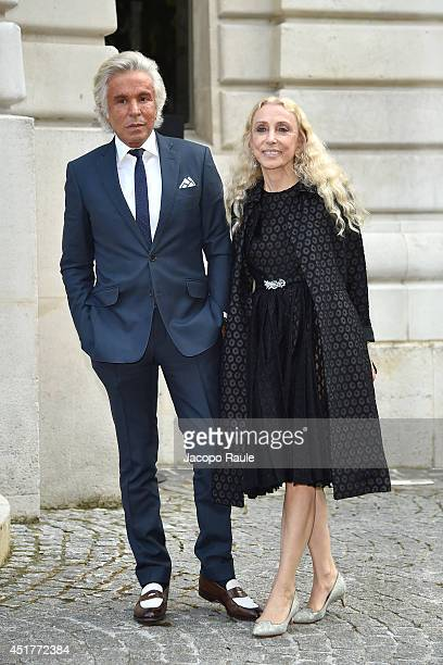 Giancarlo Giammetti and Franca Sozzani arrive at the Versace show as part of Paris Fashion Week Haute Couture Fall/Winter 20142015 on July 6 2014 in...