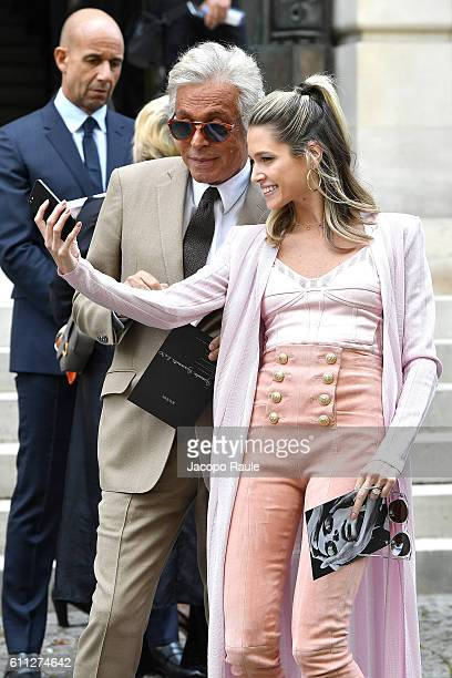 Giancarlo Giammetti and Helena Bordon are seen arriving at Balmain fashion show during the Paris Fashion Week Spring/Summer 2017 on September 29 2016...