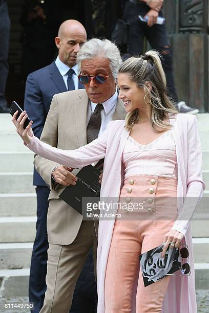 Giancarlo Giammetti and Helena Bordon attend the Balmain show as part of the Paris Fashion Week Womenswear Spring/Summer 2017 on September 29 2016 in...