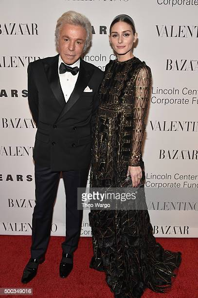Giancarlo Giammetti and Olivia Palermo attend An Evening Honoring Valentino Lincoln Center Corporate Fund Gala at Alice Tully Hall at Lincoln Center...
