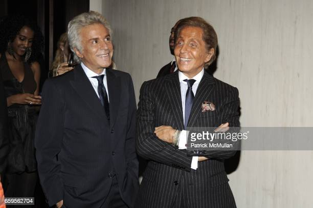 Giancarlo Giammetti and Valentino Garavani attend Gwyneth Paltrow and VBH's Bruce Hoeksema Host Cocktail Party for Valentino The Last Emperor at VBH...