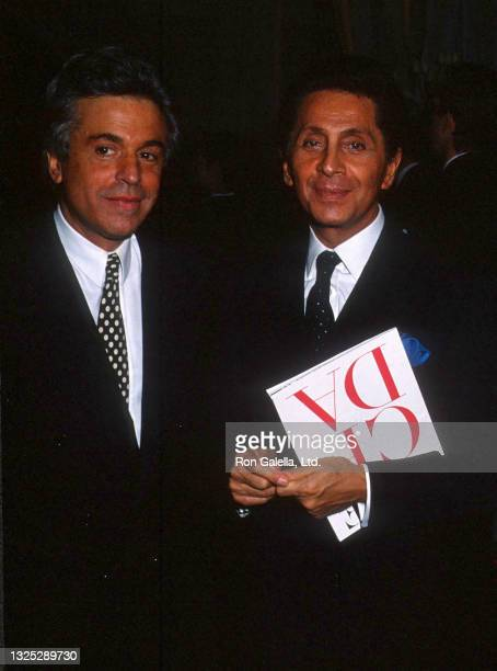 Giancarlo Giammetti and Valentino Garavani attend Seventh On Sale AIDS Benefit in New York City on November 29, 1990.