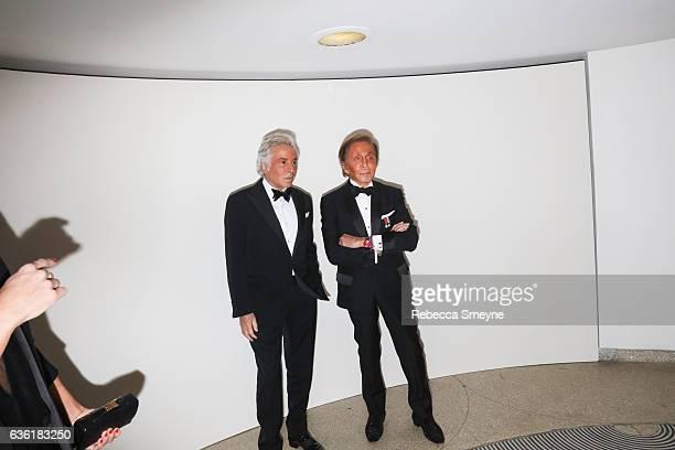 Giancarlo Giammetti and Valentino Garavani attend the Guggenheim International Gala at the Solomon R Guggenheim Museum on November 17 2016 in New...