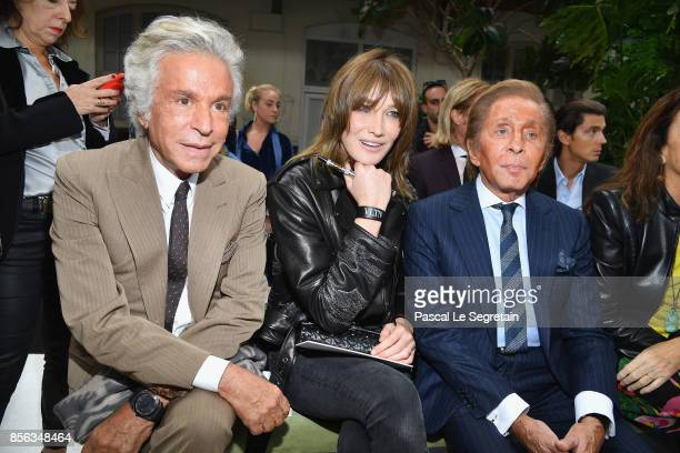 Giancarlo Giammetti Carla BruniSarkozy and Valentino Garavani attend the Valentino show as part of the Paris Fashion Week Womenswear Spring/Summer...