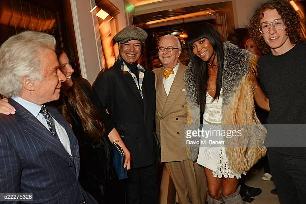 Giancarlo Giammetti Elizabeth Saltzman Michael Roberts Manolo Blahnik Naomi Campbell and guest attend an event hosted by Naomi Campbell Burberry and...