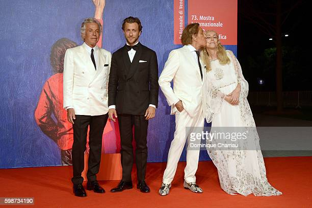 Giancarlo Giammetti Francesco Carrozzini Valentino Garavani and Franca Sozzani attend the premiere of 'Franca Chaos And Creation' during the 73rd...