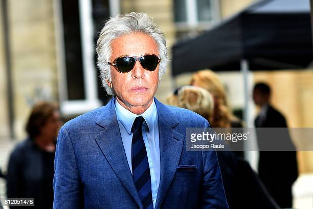 Giancarlo Giammetti is seen leaving Valentino fashion show during Paris Fashion Week Spring/Summer 2017 on October 2 2016 in Paris France
