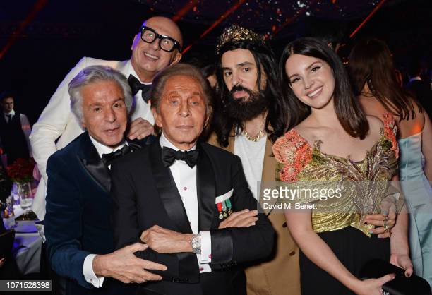 Giancarlo Giammetti Marco Bizzarri Valentino Garavani Alessandro Michele and Lana Del Rey attend The Fashion Awards 2018 in partnership with...