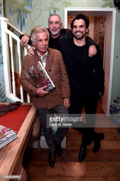 Giancarlo Giammetti, Sig Bergamin and Murilo Lomas attend the book signing cocktail party celebrating Brazilian designer, Sig Bergamin, hosted by De...