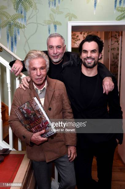 Giancarlo Giammetti Sig Bergamin and Murilo Lomas attend the book signing cocktail party celebrating Brazilian designer Sig Bergamin hosted by De...