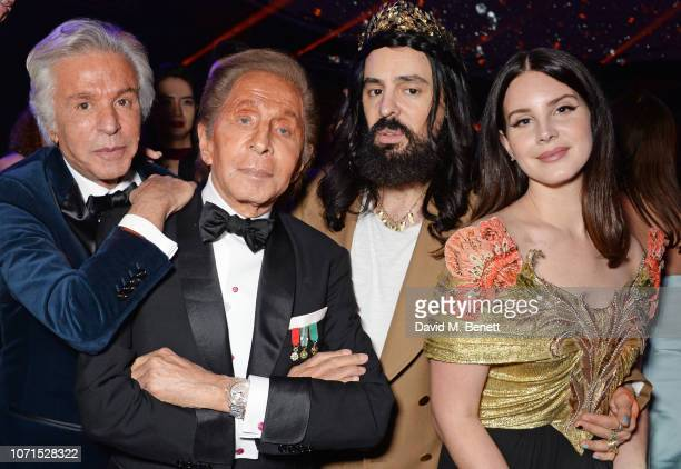 Giancarlo Giammetti Valentino Garavani Alessandro Michele and Lana Del Rey attend The Fashion Awards 2018 in partnership with Swarovski after party...