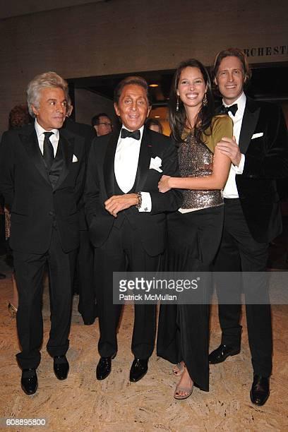 Giancarlo Giammetti Valentino Garavani Christy Turlington and Bruce Hoeksema attend NEW YORK CITY BALLET Opening Night Gala at New York State Theater...