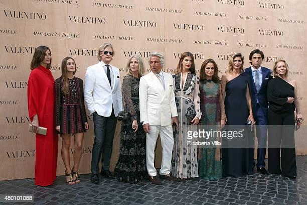 Giancarlo Giamnetti Bruce Hoeksema and Bianca Brandolini D'Adda attend the Valentino 'Mirabilia Romae' haute couture collection fall/winter 2015 2016...