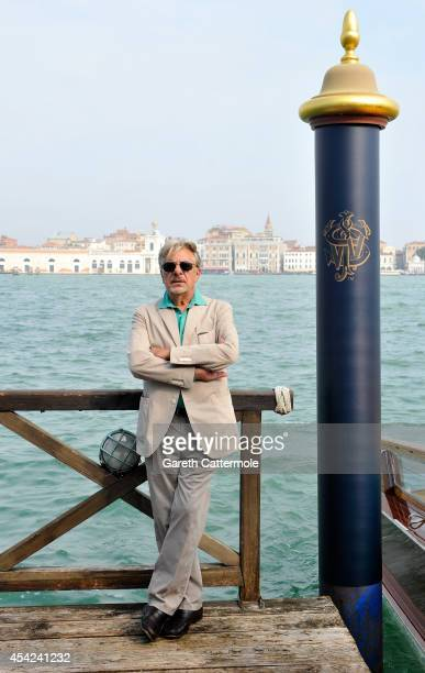 Giancarlo Giannini arrives at the Cipriani Hotel during Venice Film Festival to showcase short film The Gentleman's Wager in partnership with JOHNNIE...