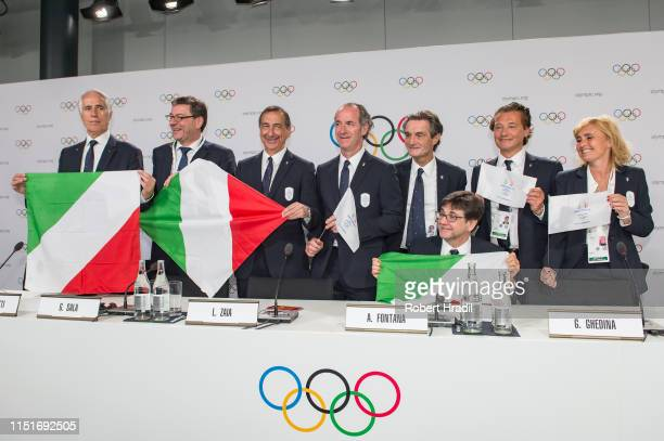 Giancarlo Giorgetti Member of the Chamber of Deputies of the Italian Republic Giovanni Malago President of Italian National Olympic Committee...
