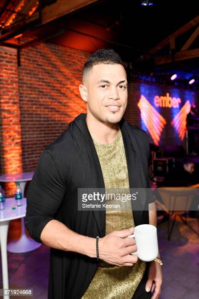 Giancarlo Stanton at Ember Celebrates VIP Launch Event with Iggy Azalea on November 8 2017 in Los Angeles California